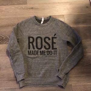 Fleece lined sweatshirt
